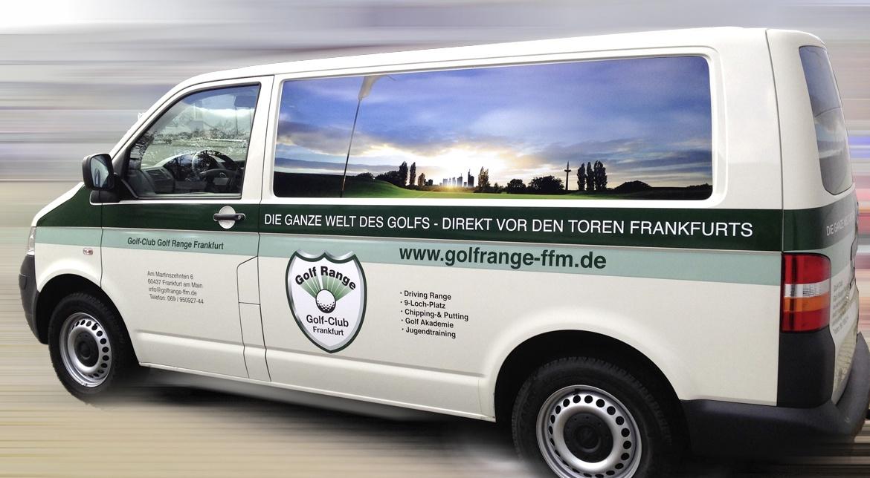 Golf-Club Golf Range Frankfurt, Beklebung