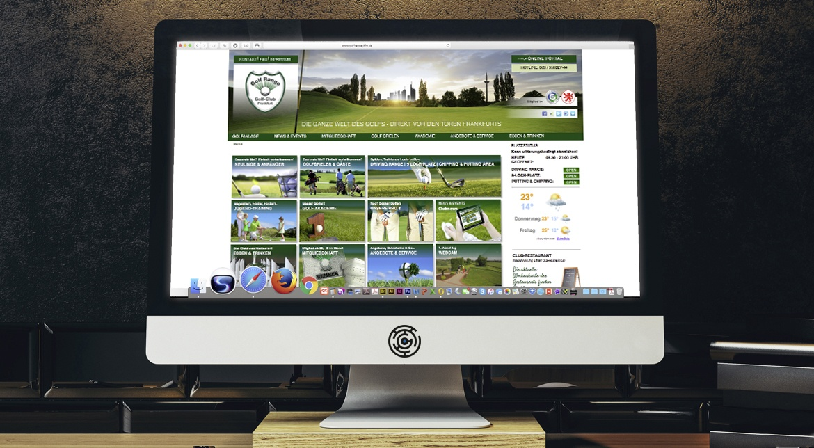 Golf-Club Golf Range Frankfurt CI/CD, Website